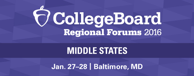 2016 Middle States Regional Forum | January. 27-28, 2016, Baltimore, MD