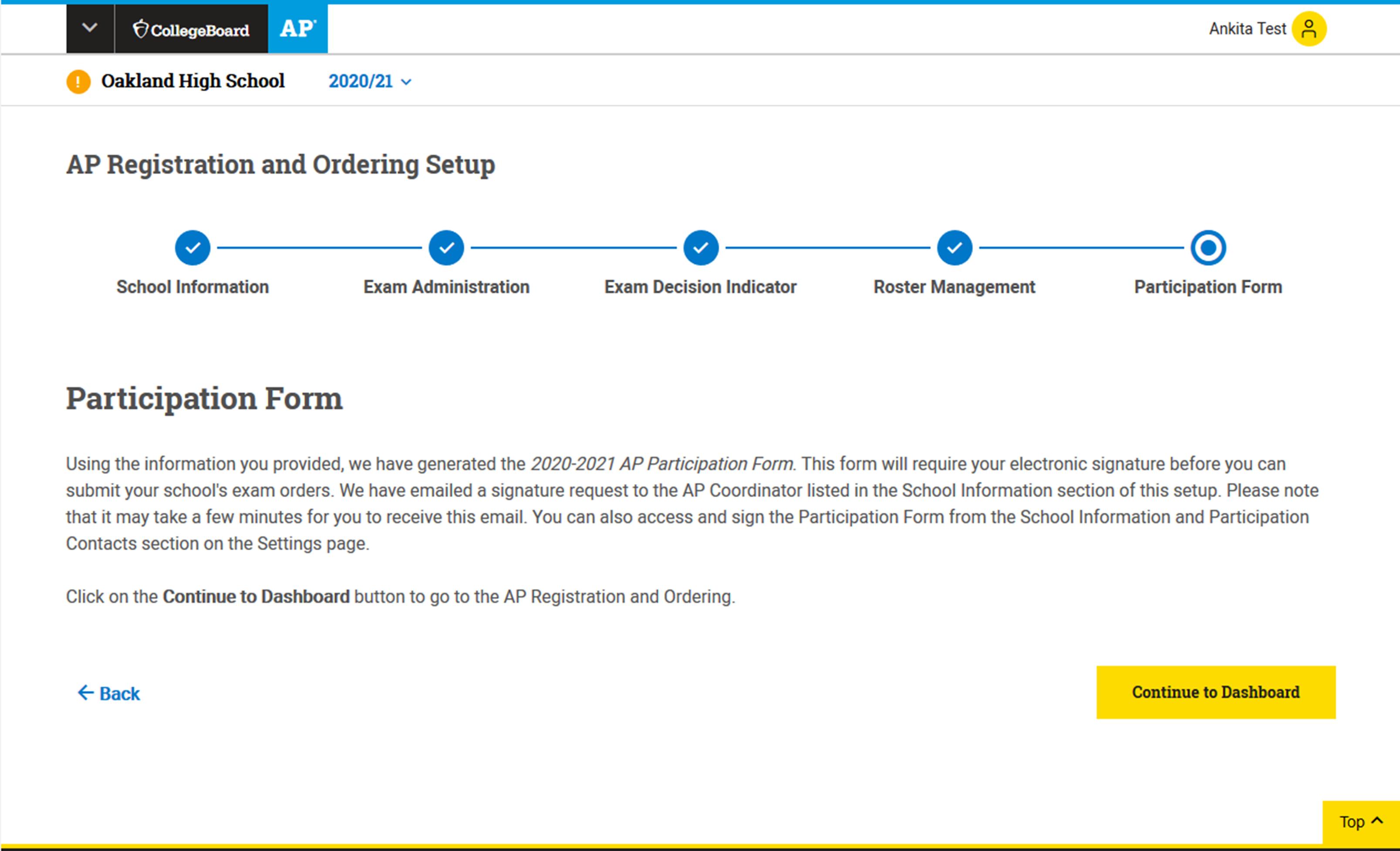 AP Registration and Ordering Setup Form
