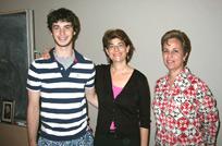 Left to right: Brett Reisman, Karen Cortell Reisman, and Dolores Gende