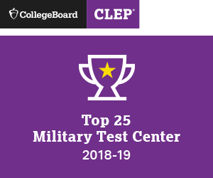 among the top 25 military test centers that administered CLEP exams