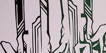 Joseph Leone, Methacton High School, Eagleville, PA — Cut paper, spray paint