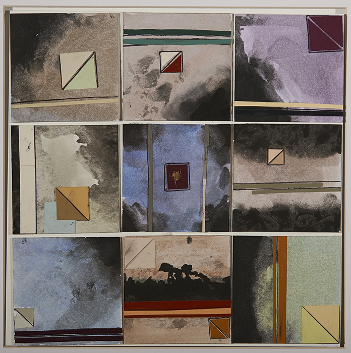Samantha Lober, STIVERS SCHOOL FOR THE ARTS, Dayton, OH — Watercolor, ink, colored paper on matboard squares