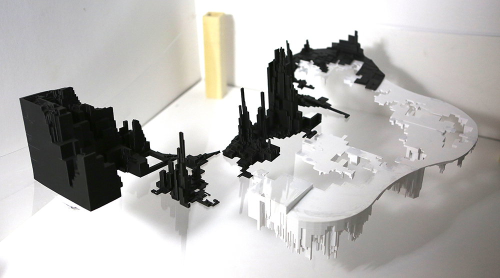 Jiwon Ryoo, BERKSHIRE SCHOOL, Sheffield, MA — 3D printed models on plexiglas