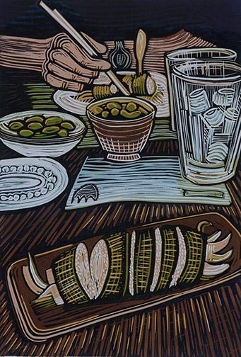 Kiersten Mercado, Douglas Anderson School of the Arts, FL — Relief print