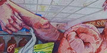 Jennifer Ziel, North Andover HS, MA—Colored pencil