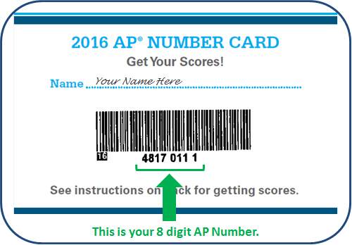 AP Number Card