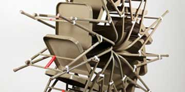 Eric Price, Moorestown Friends School, Mount Laurel, NJ—Metal chairs