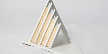 5 x 4 x 6 PVC Board light wood