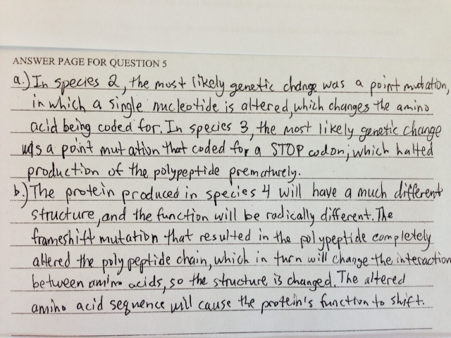 ap biology essay questions college board