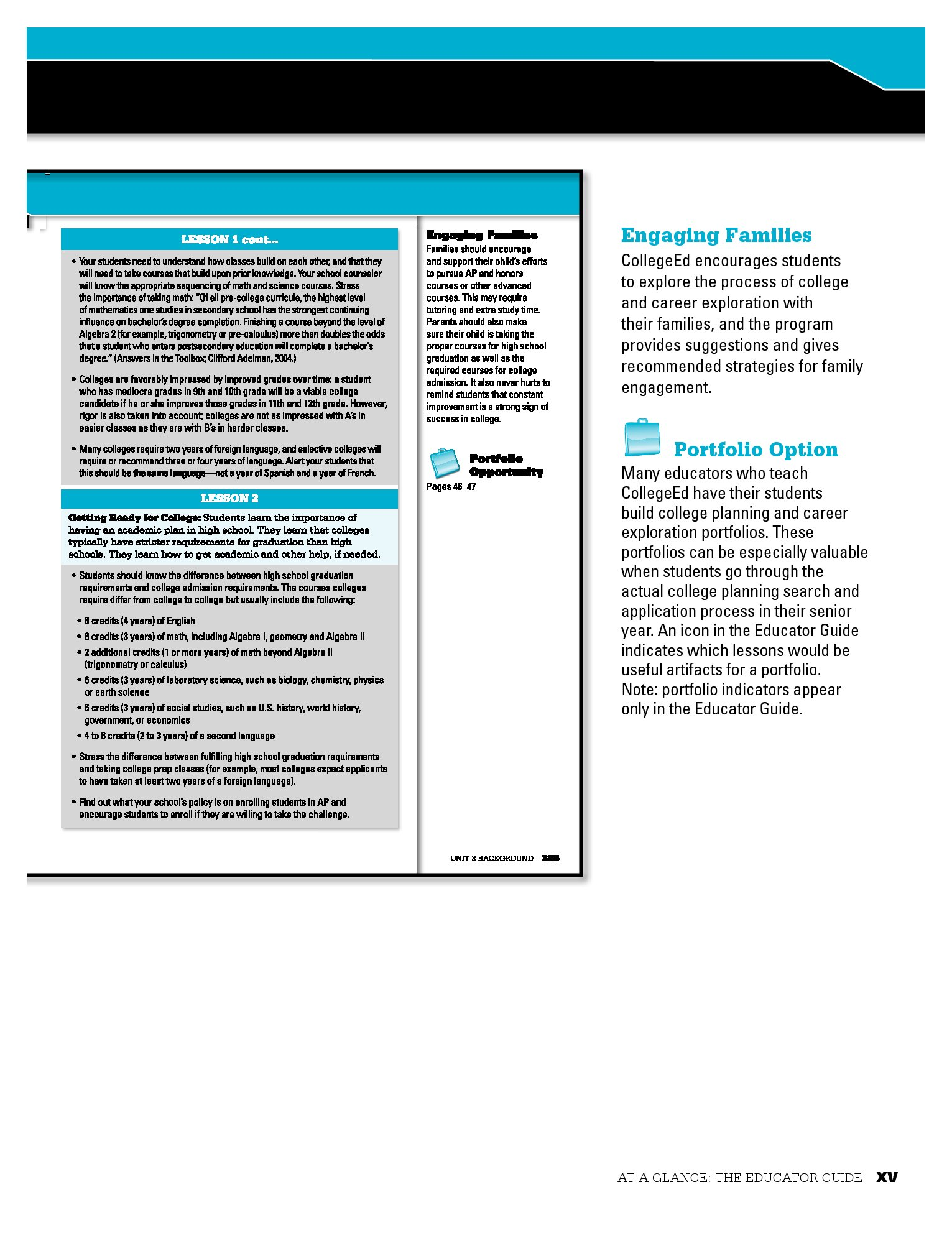 CollegeEd Grades 9/10 Educator Guide